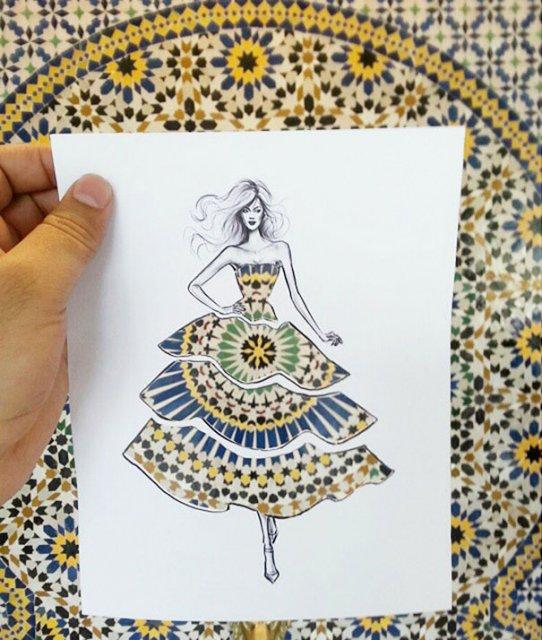 Moda cu nori si cladiri, de Shamekh Bluwi - Poza 3