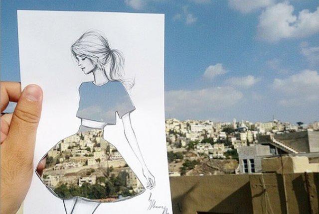 Moda cu nori si cladiri, de Shamekh Bluwi - Poza 1
