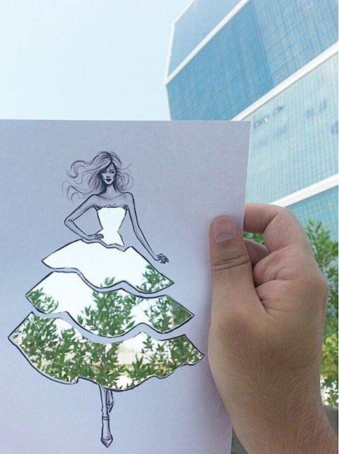 Moda cu nori si cladiri, de Shamekh Bluwi - Poza 2