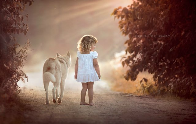 Animale si copilasi, intr-un pictorial superb - Poza 8