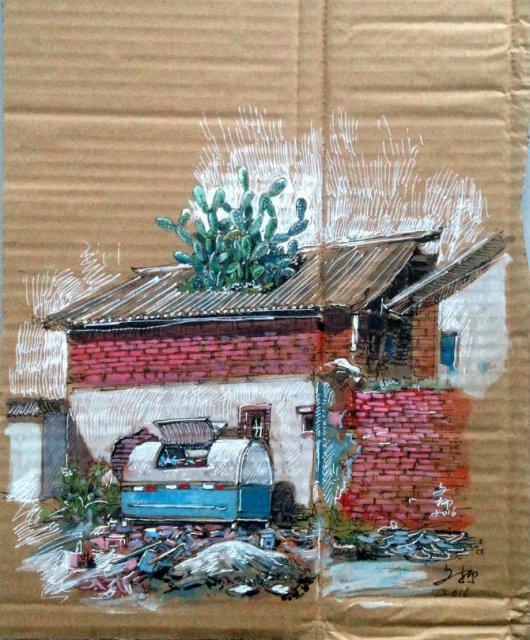 Ilustratii pe resturi de carton - Poza 10
