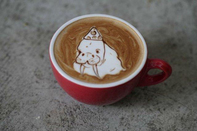 Bauturi pe baza de cafea frumos decorate - Poza 17
