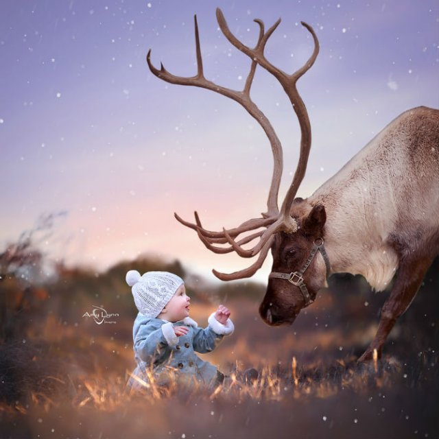 Animale si copilasi, intr-un pictorial superb - Poza 5