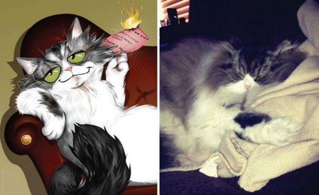 Portrete simpatice cu pisici si caini - Poza 13