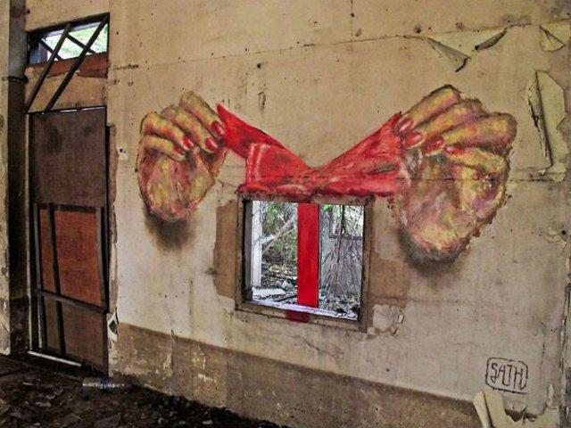 Interventii urbane: Picturi stradale geniale, in contexte banale - Poza 5