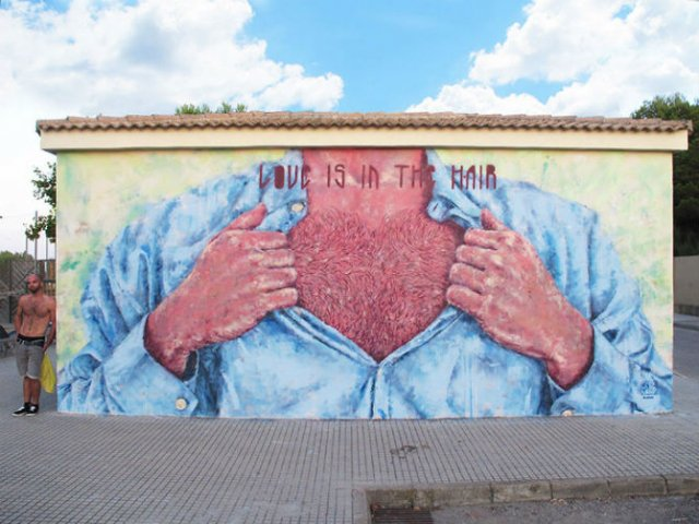 Interventii urbane: Picturi stradale geniale, in contexte banale - Poza 6