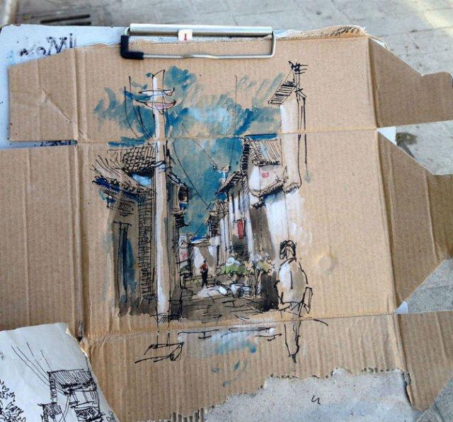 Ilustratii pe resturi de carton - Poza 8