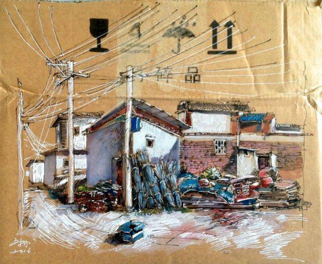 Ilustratii pe resturi de carton - Poza 7