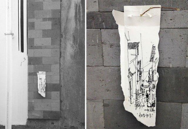 Ilustratii pe resturi de carton - Poza 3