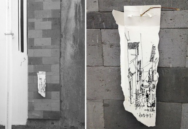 Ilustratii pe deseuri de carton
