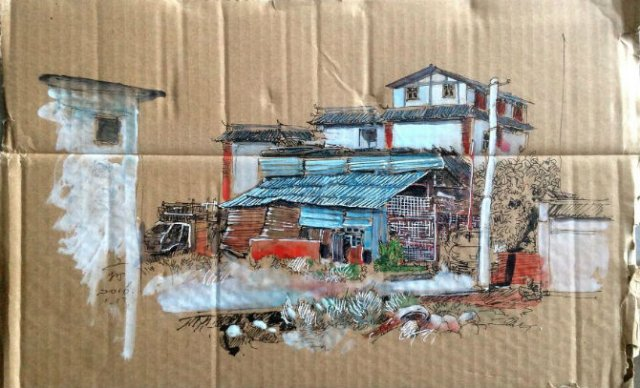 Ilustratii pe resturi de carton - Poza 4