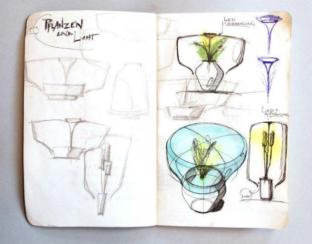 Lampa-ghiveci: Un ornament viu si luminos - Poza 4