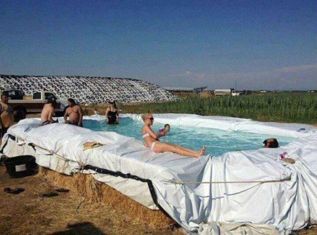Cele mai trasnite piscine improvizate - Poza 6