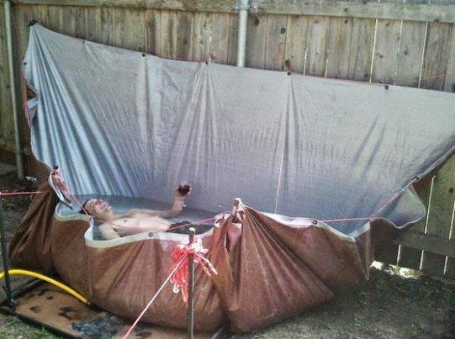 Cele mai trasnite piscine improvizate - Poza 7