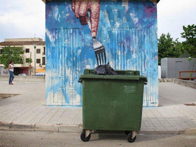 Interventii urbane: Picturi stradale geniale, in contexte banale - Poza 1
