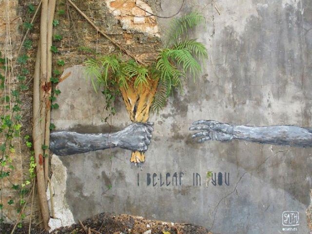 Interventii urbane: Picturi stradale geniale, in contexte banale - Poza 2