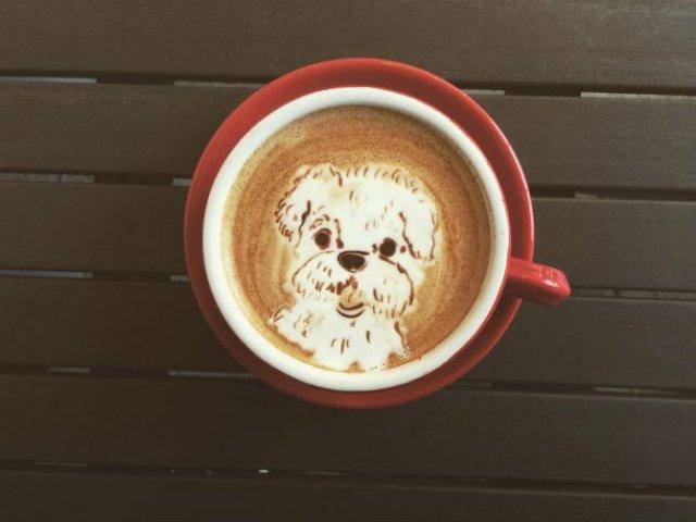 Bauturi pe baza de cafea frumos decorate - Poza 15