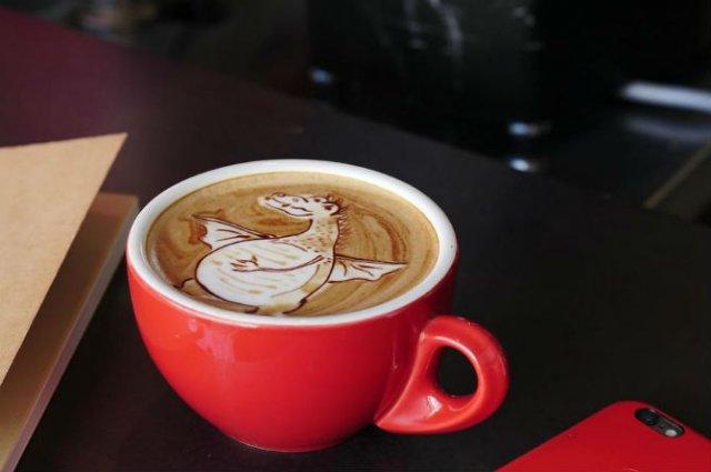 Bauturi pe baza de cafea frumos decorate - Poza 14