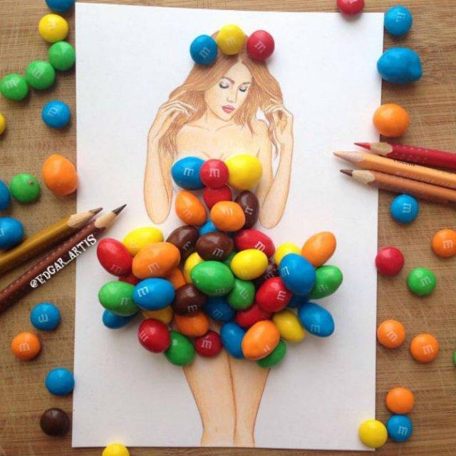 Moda bizara cu alimente, in ilustratii 3D - Poza 16
