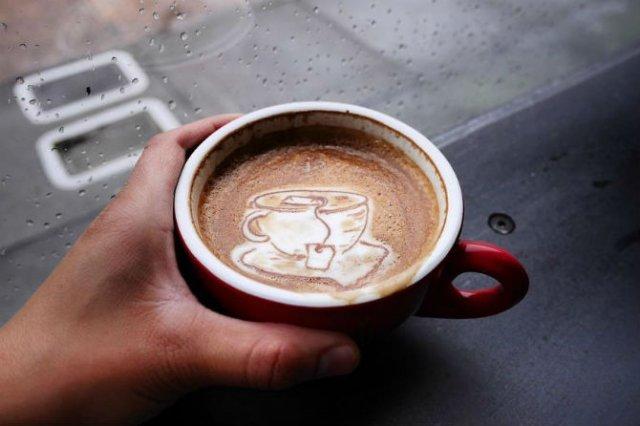 Bauturi pe baza de cafea frumos decorate - Poza 13