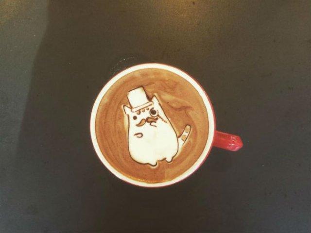 Bauturi pe baza de cafea frumos decorate - Poza 12