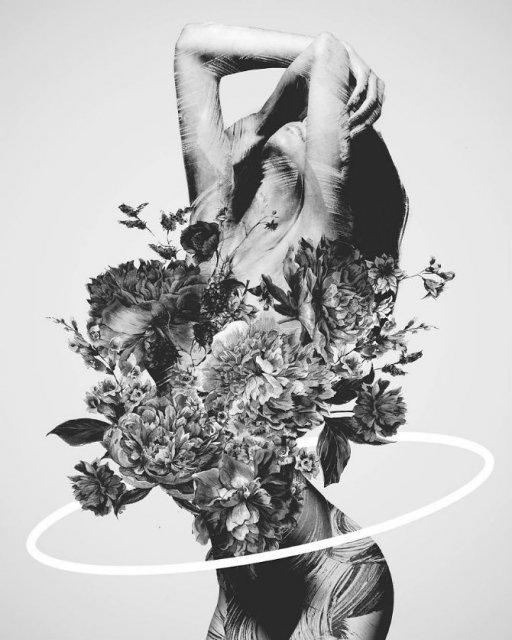 Ilustratii suprarealiste cu pasari si femei - Poza 9