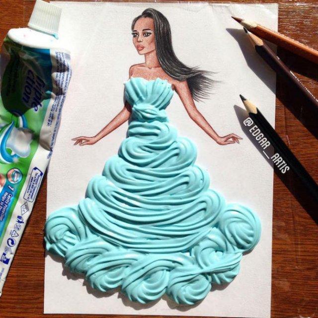 Moda bizara cu alimente, in ilustratii 3D - Poza 15
