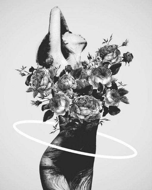 Ilustratii suprarealiste cu pasari si femei - Poza 8