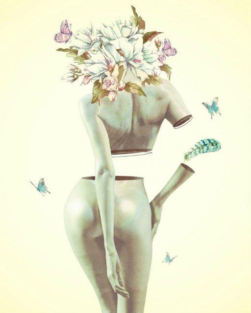 Ilustratii suprarealiste cu pasari si femei - Poza 7