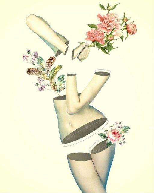 Ilustratii suprarealiste cu pasari si femei - Poza 6