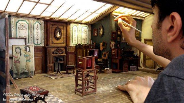 Miniatura unui studio fotografic din 1900 - Poza 1
