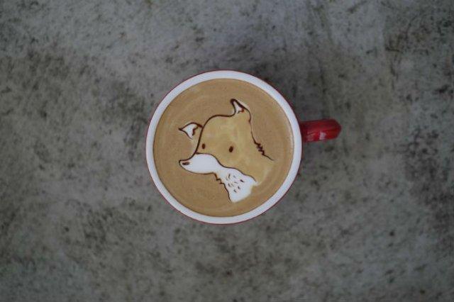 Bauturi pe baza de cafea frumos decorate - Poza 10