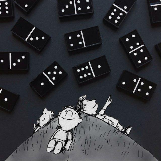 Obiecte banale transformate in ilustratii haioase - Poza 16