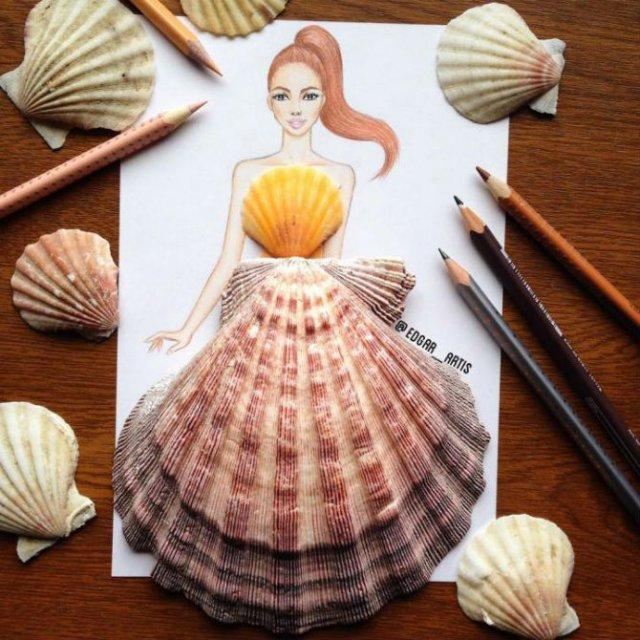 Moda bizara cu alimente, in ilustratii 3D - Poza 13
