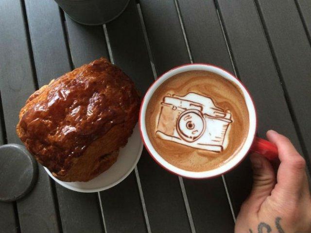Bauturi pe baza de cafea frumos decorate - Poza 8