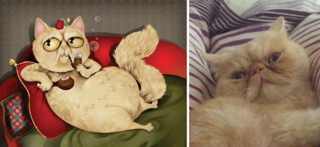 Portrete simpatice cu pisici si caini - Poza 4