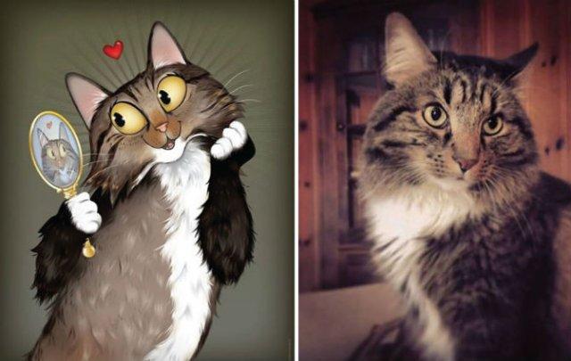 Portrete simpatice cu pisici si caini - Poza 5