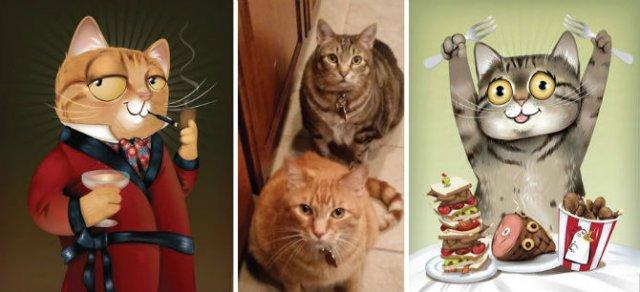 Portrete simpatice cu pisici si caini - Poza 7