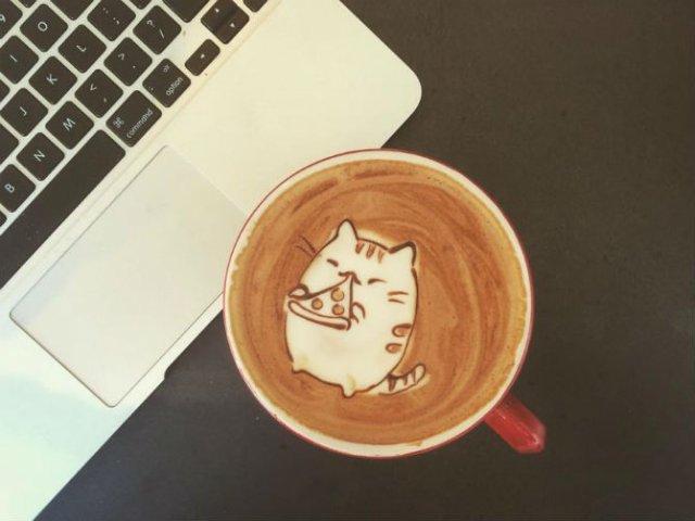Bauturi pe baza de cafea frumos decorate - Poza 1