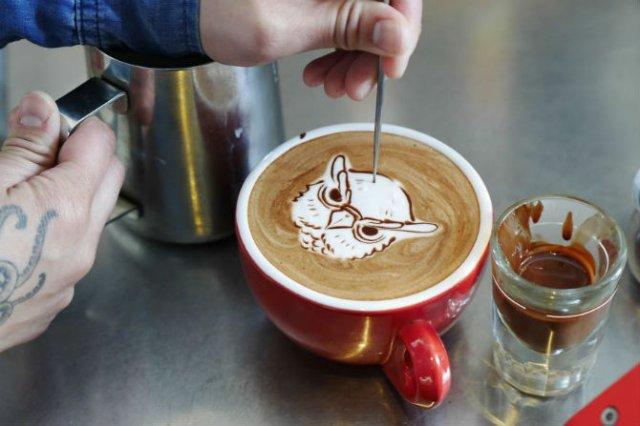 Bauturi pe baza de cafea frumos decorate - Poza 6