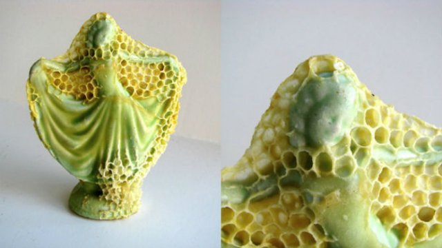 Sculpturi din portelan remodelate de albine - Poza 4