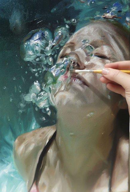 Amintiri de sub apa, in picturi realiste - Poza 3