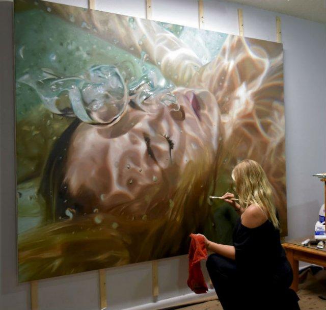 Amintiri de sub apa, in picturi realiste - Poza 1