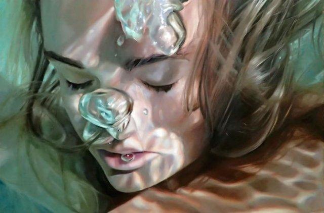Amintiri de sub apa, in picturi realiste - Poza 4