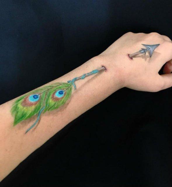 Picturi 3D pe piele, cu Lisha Simpson - Poza 9