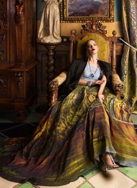 Pictura clasica pe rochii fabuloase - Poza 8
