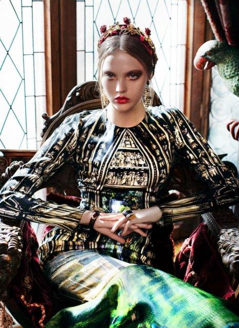 Pictura clasica pe rochii fabuloase - Poza 3