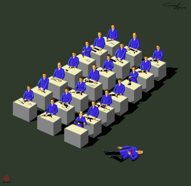 Nenorocirile lumii, in ilustratii satirice - Poza 11
