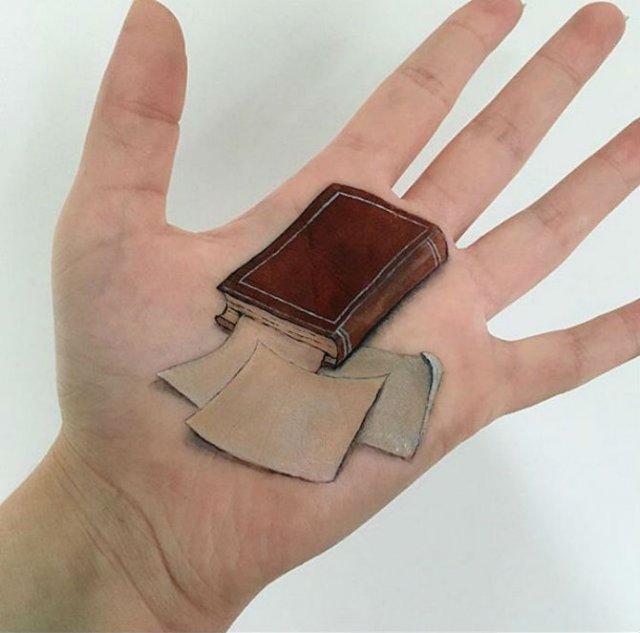Picturi 3D pe piele, cu Lisha Simpson - Poza 8