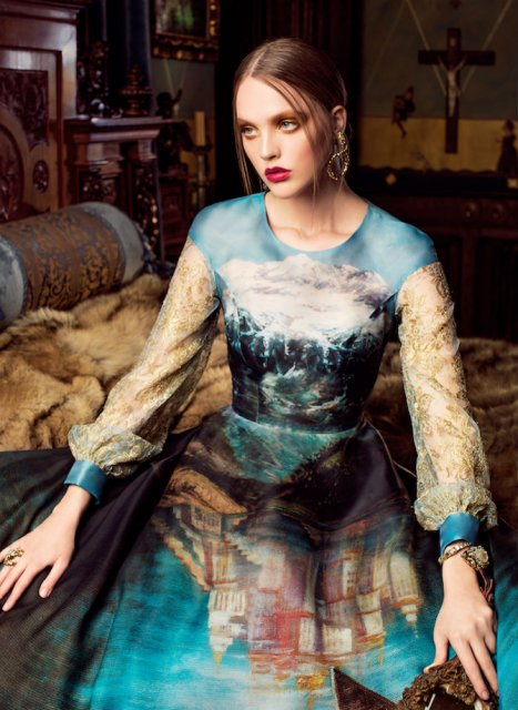 Pictura clasica pe rochii fabuloase - Poza 2